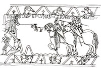Scene from the Bayeux Tapestry.