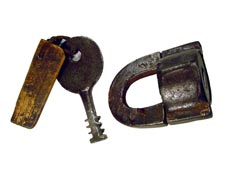 Polhem padlock from the mid-19th C.