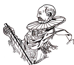 Duke Carl, from a copperplate engraving by Hieronymus Nützel, dated 1596.