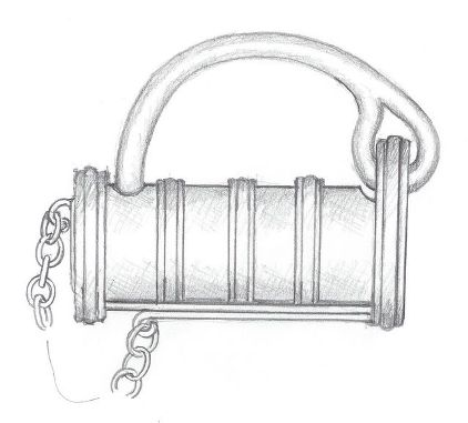 Sketch of a padlock, reconstruction