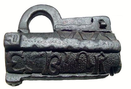 Photo of a padlock dated 1544