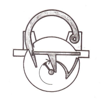 Sketch of a spherical padlock, locking principle