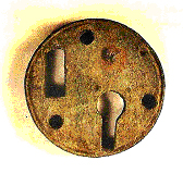 Front of a Roman padlock of bronze
