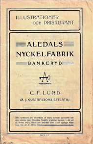 The company's product catalogue, 1919, with logo.