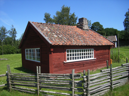 A forge, moved from Granshult to the Bankeryd folk museum in 1955.