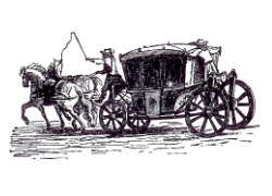 17th-century stagecoach. Figure: E. Dahlberg, Suecia antiqua.