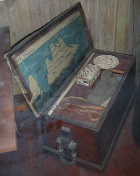 Seaman's chest in the Gothenburg Marine Museum.