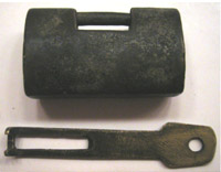 Brass box lock, earlier type.