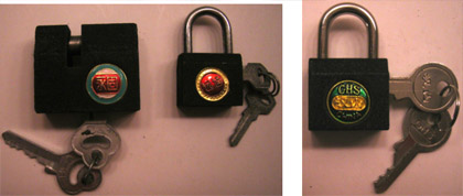 More examples of modern Chinese padlocks. Photos by the author.