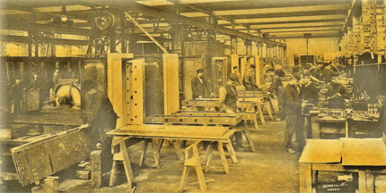 Rosengrens in Göteborg. Manufacture of vault doors in the early 20th century.