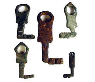 EA collection of bronze Roman keys from about 200 AD.