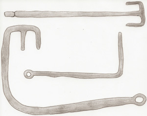 Celtic keys. Sketch by the author.