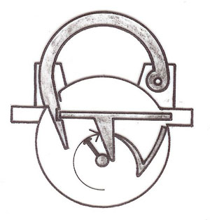 Spherical lock. Sketch by the author.